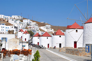 Hora, down-town, astypalaia castle